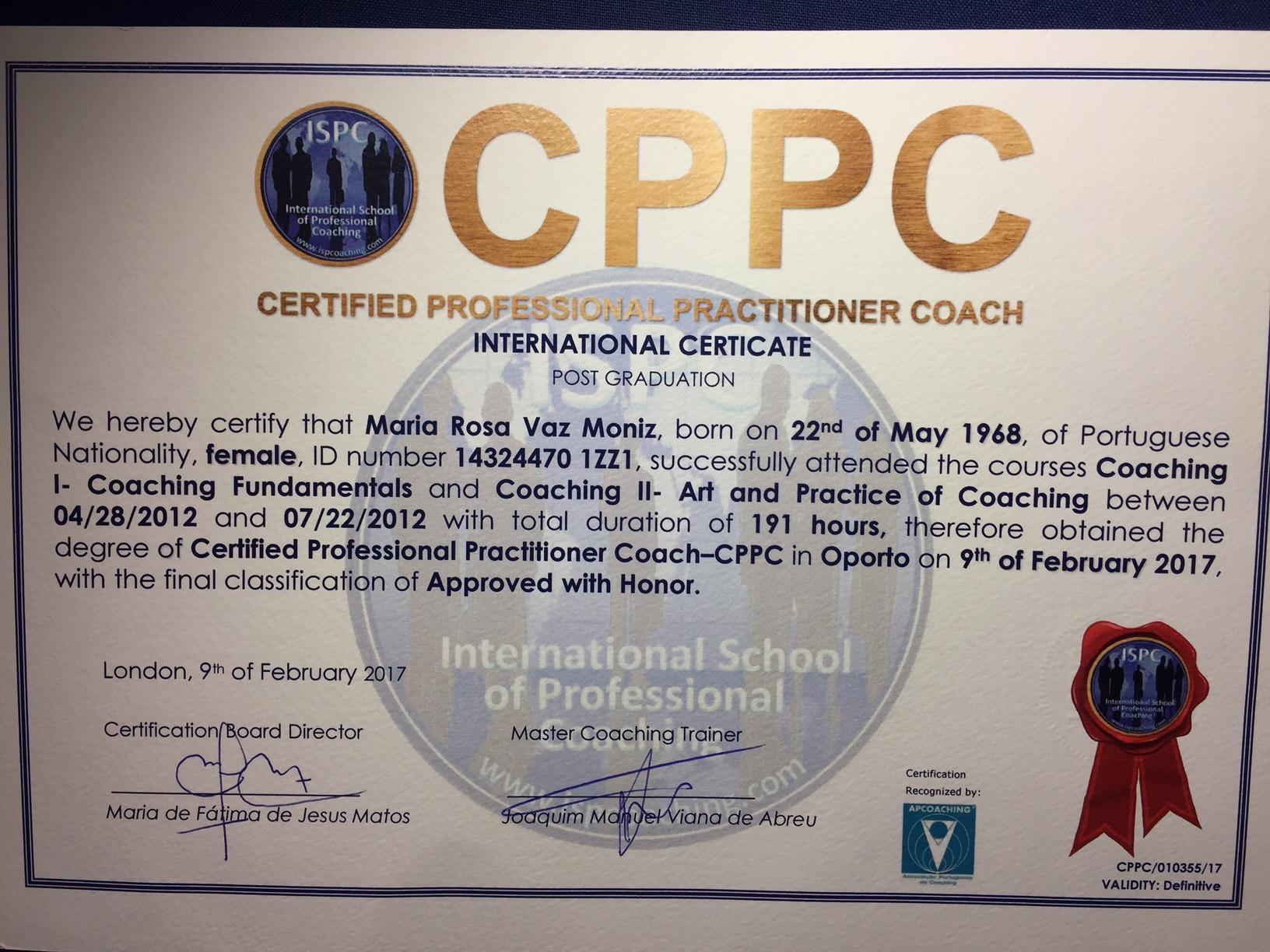 Certificado CPPC