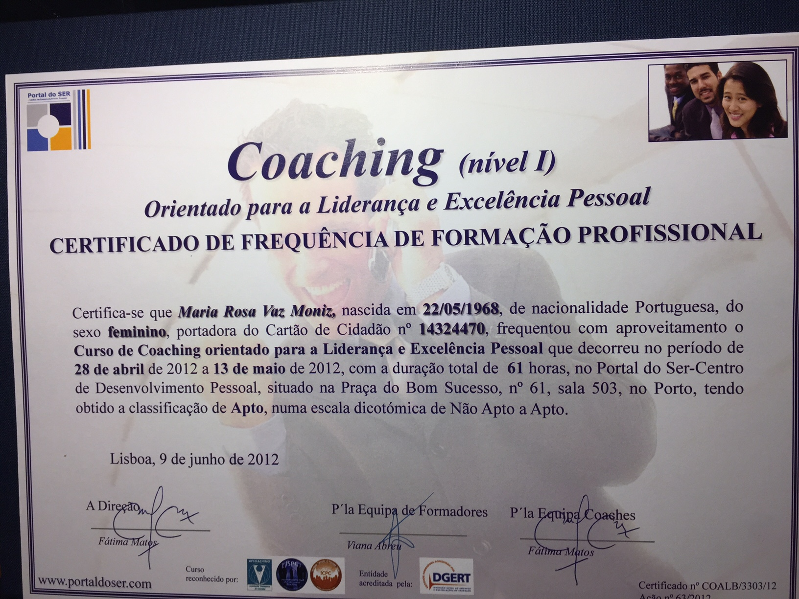 Certificado Coaching
